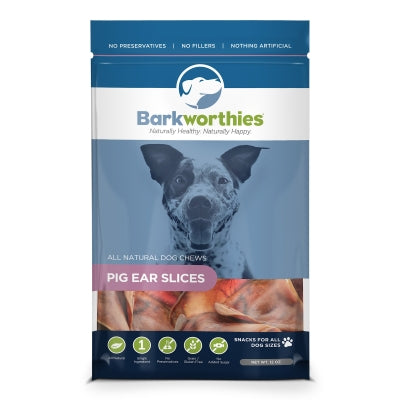Barkworthies Pig Ear Slices Dog Treats, 12oz.