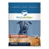 Barkworthies Turkey Jerky With Pumpkin, Sweet Potato & Carrot Dog Treats, 4oz.