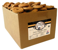 Basil & Baxter's Cheese Oat Bacon Bagel Biscuit Dog Treats, 10lb. Box