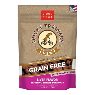 Cloud Star Tricky Trainers Chewy Grain Free Liver - 12 oz