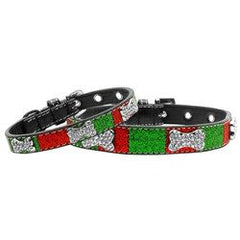 Mirage - Crystal Bone Christmas Dog Collars