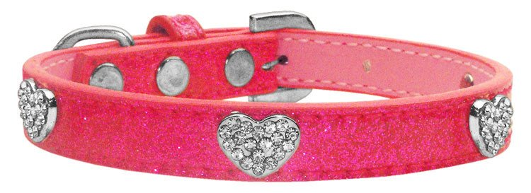 Pink Valentines Day Dog Collar 1/2""