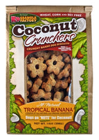 K9 Granola Factory Coconut Crunchers for Dogs All Natural Tropical Banana, 14-Ounces