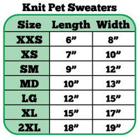 Mirage - Let It Snow Rhinestone Knit Dog Sweaters