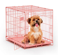 Midwest Pet Prodcuts - iCrate Fashion Edition Dog Crates - Pink & Blue Colors