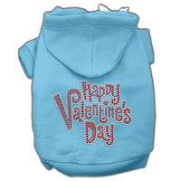 Baby Blue Happy Valentines Day Dog Hoodie
