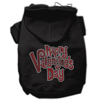 Black Happy Valentines Day Dog Hoodie