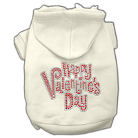 Cream Happy Valentines Day Dog Hoodie