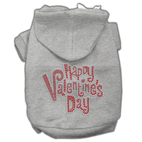 Grey Happy Valentines Day Dog Hoodie