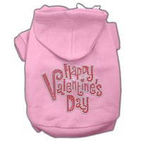Pink Happy Valentines Day Dog Hoodie
