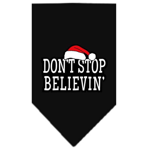 Mirage - Don't Stop Believing Christmas Dog Bandana - Black