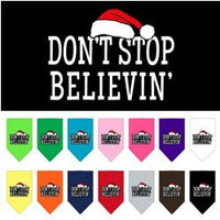 Mirage - Don't Stop Believing Christmas Dog Bandanas