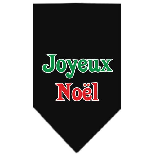 Mirage - Joyeux Noel Christmas Dog Bandana - Black