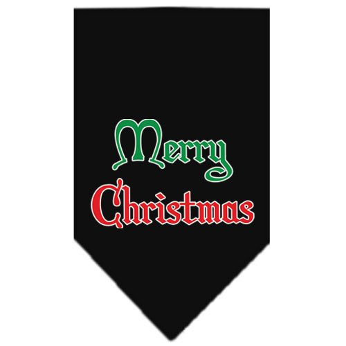 Mirage - Merry Christmas Dog Bandana - Black