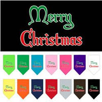 Mirage - Merry Christmas Dog Bandanas