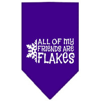 Mirage - All Of My Friends Are Flakes Dog Bandana - Purple