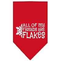 Mirage - All Of My Friends Are Flakes Dog Bandana - Red