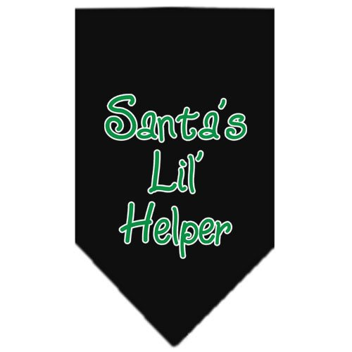 Mirage - Santa's Lil Helper Christmas Dog Bandana - Black