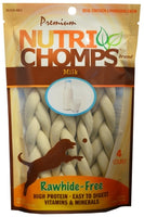 "Nutri Chomps 6"" Milk Flavor Braids, 4 Pack"