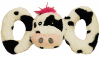 Jolly Pet's Tug-A-Mals Cow Dog Toy
