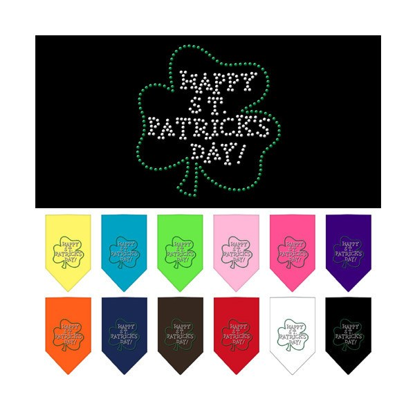 Mirage - Happy St. Patricks Day Rhinestone Dog Bandana