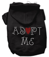 Black Rhinestone Adopt Me Dog Hoodies