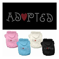 Mirage - Adopted Rhinestone Dog Hoodies