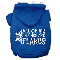 Mirage - All My Friends Are Flakes Winter Dog Hoodie - Blue