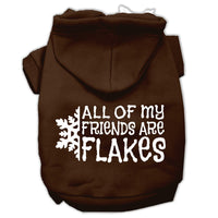 Mirage - All My Friends Are Flakes Winter Dog Hoodie - Brown