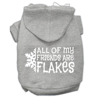 Mirage - All My Friends Are Flakes Winter Dog Hoodie - Grey