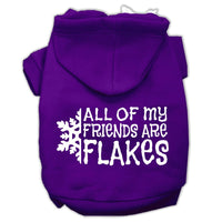 Mirage - All My Friends Are Flakes Winter Dog Hoodie - Purple