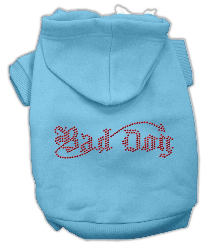 Baby Blue Bad Dog Rhinestone Dog Hoodie