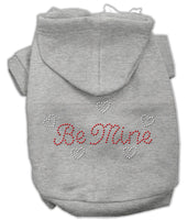Grey Be Mine Rhinestone Dog Hoodie