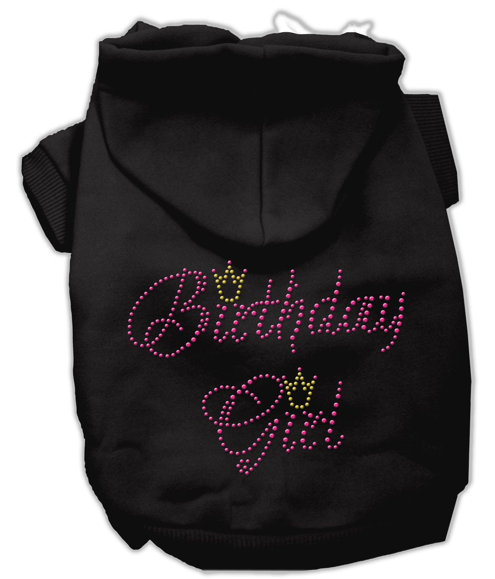 Black Birthday Girl Rhinestone Dog Hoodie