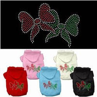 Mirage - Christmas Bows Rhinestone Dog Hoodies