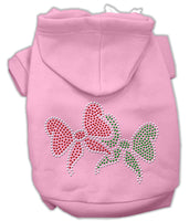Mirage - Christmas Bows Rhinestone Dog Hoodie - Pink