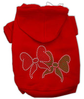 Mirage - Christmas Bows Rhinestone Dog Hoodie - Red