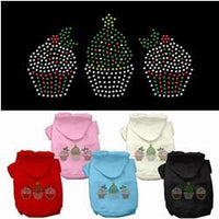 Mirage - Christmas Cupcake Trio Dog Hoodies