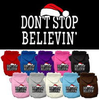 Mirage - Don't Stop Believing - Christmas Dog Hoodies
