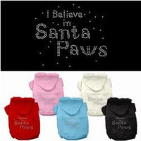 Mirage - I Believe In Santa Paws Rhinestone Dog Hoodies
