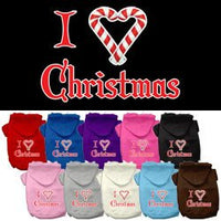 Mirage - I Heart Christmas Dog Hoodie