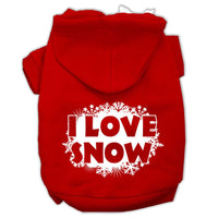 Mirage - I Love Snow Dog Hoodie - Red