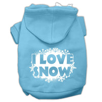 Mirage - I Love Snow Dog Hoodie - Baby Blue