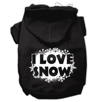 Mirage - I Love Snow Dog Hoodie - Black