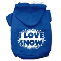 Mirage - I Love Snow Dog Hoodie - Blue