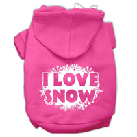 Mirage - I Love Snow Dog Hoodie - Bright Pink