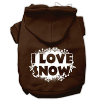 Mirage - I Love Snow Dog Hoodie - Brown