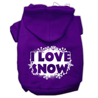 Mirage - I Love Snow Dog Hoodie - Purple