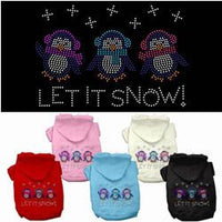 Mirage - Let It Snow Penguins Dog Hoodies