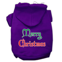 Mirage - Merry Christmas Dog Hoodie - Purple
